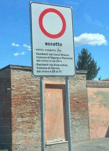 Bondeno (fe): a Ferrara per via Diamantina non ci si va più