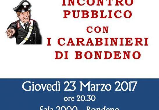 Bondeno (fe): Incontro pubblico con i Carabinieri