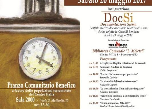 Bondeno (fe): 20 maggio