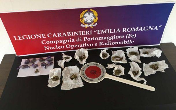 Portomaggiore (fe): arresti per spaccio di Marijuana e per Truffa in paese