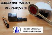 Castelfranco Emilia (mo): la Polizia municipale sequestra 600 grammi di hashish