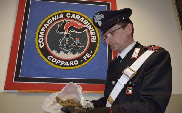 Copparo: fermato per detenzione ai fini di spaccio