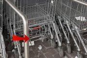 Poggio Renatico (fe): carrelli della spesa sporchi di guano utilizzati per fare la spesa