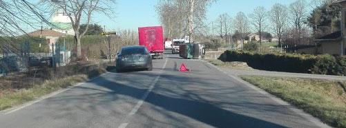 Vigarano Mainarda (Fe): brutto incidente nel pomeriggio