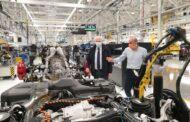 Sant'Agata (Bo): l'assessore Colla in visita alla Lamborghini Automobili
