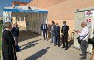 Cento (Fe) - Un tunnel per sanificare i mezzi ausl con il contributo CaRiCento