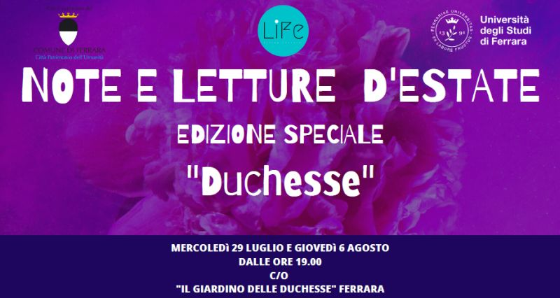 Ferrara - Eventi - Giardino Duchesse, due eventi extra