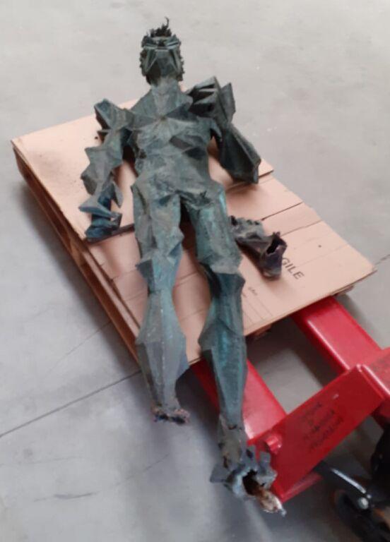 Mirandola (Mo): Vandalizzata la statua di Francesco Montanari