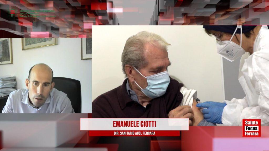 AUSL-FE: Vaccini Covid Ciotti: facciamo appello per la vaccinazione degli 80mila ferraresi che ancora non hanno prenotato