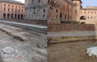 Ferrara: Riaffiorano le antiche mure dai lavori in Largo Castello